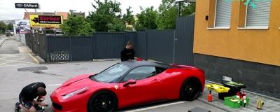 Ferrari and McLaren detailing
