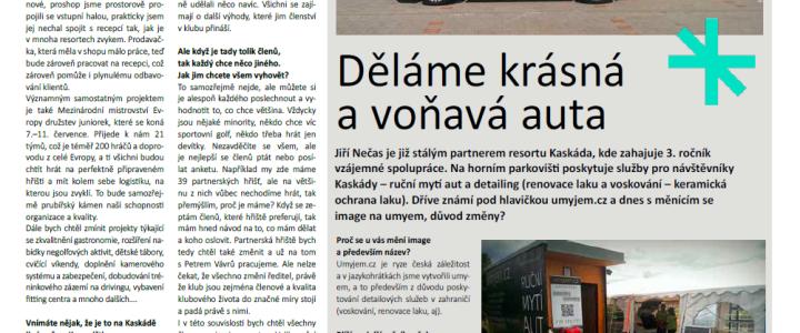Ruční mytí aut – rozhovor pro noviny Kaskáďan